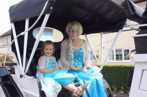 Ice Queen in her carriage