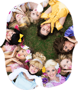 Princess parties with a real life princess. Book your favourite character.
