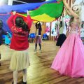 Parachute games with princess Aimee as barbie